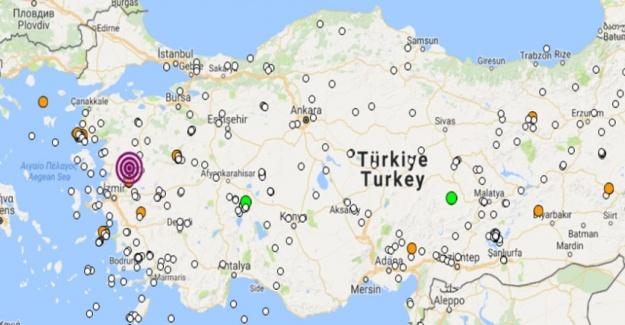 Manisa'da 4.3 büyüklüğünde deprem