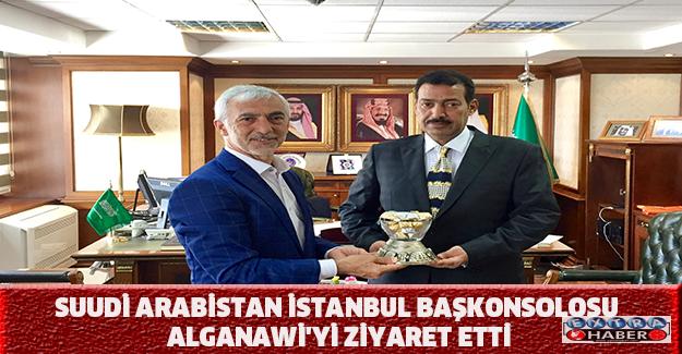 Suudi Arabistan İstanbul Başkonsolosu Alganawi'yi ziyaret etti