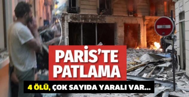 Paris'te şiddetli patlama! 4 ölü, çok sayıda yaralı var...