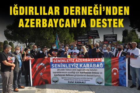 Iğdırlılar Derneği'nden Azerbaycan'a destek