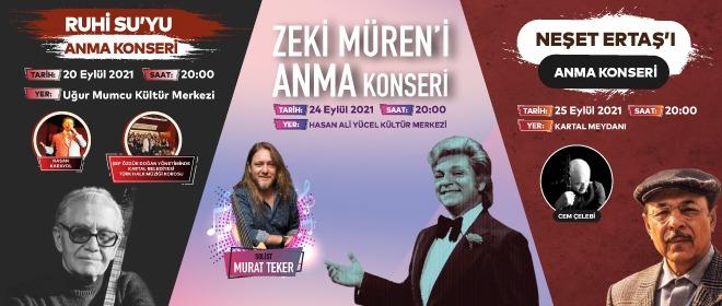 Türk müziğinin usta isimleri Kartal'da anılacak