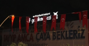 Erdoğan pankartlı davete kayıtsız kalmadı