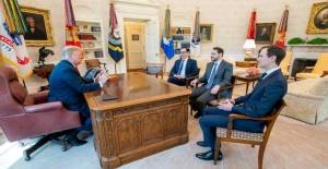 Bakan Berat Albayrak Beyaz Saray'da Donald Trump ile görüştü
