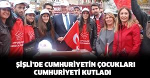 Şişli'de Cumhuriyet'in çocukları, Cumhuriyet'i kutladı