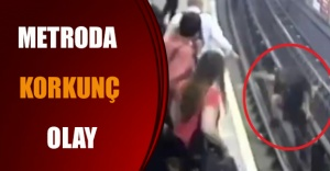 Metroda korkunç olay