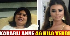 Kararlı anne 46 kilo verdi