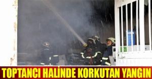 Toptancı halinde korkutan yangın