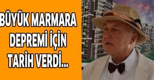 Büyük Marmara depremi için tarih verdi...