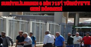Suriyelilerden 6 bin 715'i Türkiye'ye geri dönmedi
