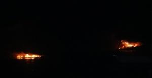 Yat limanında korkutan yangın