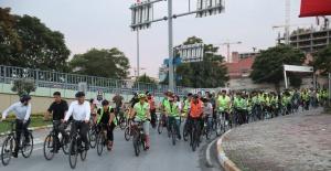 Kırşehir Belediye Başkanı Zeytinburnunda pedal çevirdi
