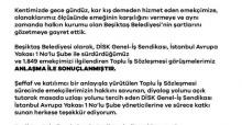 Beşiktaş Belediyesi'nde toplu iş sözlemesi imzalandı!