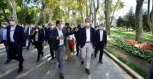 İmamoğlu, AB Büyükelçisi ile yürüdü
