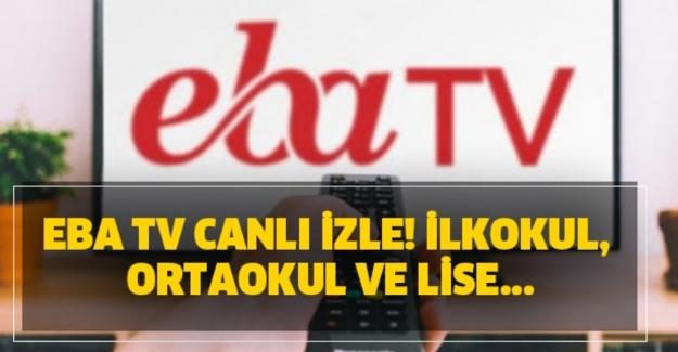 8 Ekim Perşembe EBA TV canlı yayın akışı! İlkokul, ortaokul ve lise ders programı